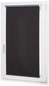 AmazonBasics - Estor opaco y enrollable, con revestimiento de color a juego, 56 x 150 cm, Negro 5