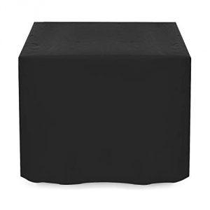 Dokon Fundas para Muebles de Jardín Impermeable, Resistente al Viento, Resistente al Polvo, Anti-UV 420D Oxford Funda Protectora Mesa Exterior (125x125x74cm) - Negro 4