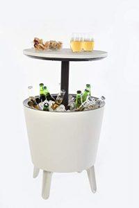 Keter Cool Bar Crema y Chocolate Mesa Nevera para Exterior, Blanco, 50x41x50 cm 3