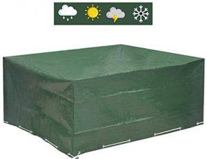 Glorytec Funda Muebles Jardin 200x160x70 - Funda Mesa Jardin con protección Impermeable contra el Viento y Condiciones climáticas - Funda Protectora para mesas de jardín (cuadradas o angulares) 5