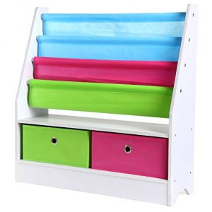 HOMFA Estantería Infantil para Juguetes Libros Organizador para Juguetes Librería Almacenamiento Juguetes 71x23x74cm 9