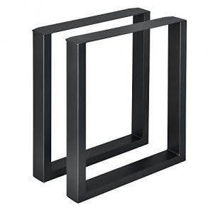 [en.casa]®] 2 x Conjunto de Patas de Mesa - Set de 2X Patas de Mesa - Metal - Patas de los Muebles - 60 x 72 cm - para Mesa de Comedor - Armazón de Mesa - con protección para Suelo - Negro 5