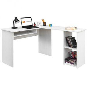 COMIFORT Escritorio, Mesa de Ordenador, Forma L, 120/140x40x75 cm (Nordic) 4