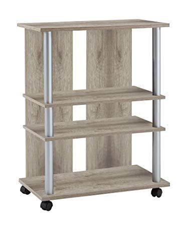 FMD Möbel 205-007 Variant 7 - Mueble Auxiliar para televisión y Equipo de música (65 x 85 x 40 cm), Color Roble 1