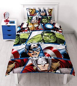 Character World Marvel Avengers Shield - Juego de Ropa de Cama Individual 4