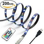 Diyife 2 Meter 60 Leds Retroiluminación De TV 5050 RGB Bias Lluminación para HDTV De 40-60 Pulgadas, USB LED Rayas Neon Accent Lighting Kit. 19