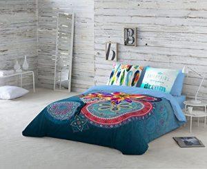 NATURALS Juego De Funda Nórdica Ariana Azul Cama 150 (240 x 220 cm + 2/45 x 90 cm) 9
