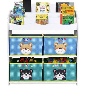 HOMFA Librería para guardar juguetes libros Estantería organizador 82.5 x 29.5 x 97.5 cm 7