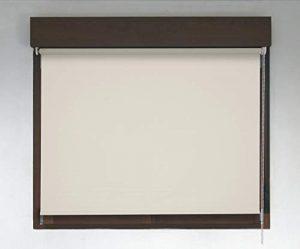 Estor TÉRMICO Opaco Premium (Desde 40 hasta 300cm de Ancho, no Permite Paso de la luz y sin Visibilidad Exterior). Color Crudo. Medida 58cm x 200cm para Ventanas y Puertas 1