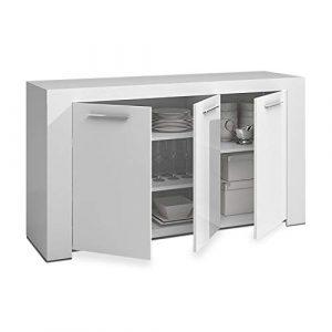 Habitdesign 006620A - Aparador Buffet Moderno, Armario Auxiliar Comedor, Medidas: 144 x 42 x 80 cm de Alto (Blanco Artik) 3