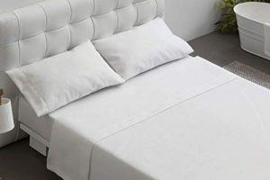 BURRITO BLANCO T1201 Juegos de sábanas hostelería, Mezcla t12, Algodón, Blanco, Ancho de 80 cm 7