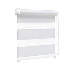 Victoria M. Zevra Estor Doble Enrollable - Estor día y Noche translúcido, 130 x 160 cm, Blanco 7