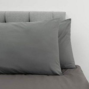 Dreamzie ⭐Set de 2 x Fundas de Almohada 50 x 80 cm, Gris Antracita, Microfibra (100% Poliéster) - Fundas de Almohadas - Fundas de Cojin Cama, Funda de Almohada Cojin Calidad Cómoda Hipoalergénica 4