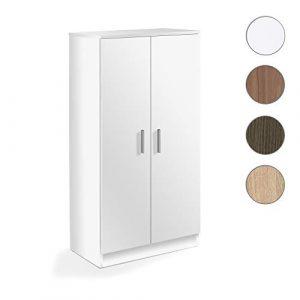 Habitdesign - Mueble Zapatero Basic, Armario Zapatero Dos Puertas, Medidas: 108 x 55 x 36 cm de Fondo. (Blanco) 7
