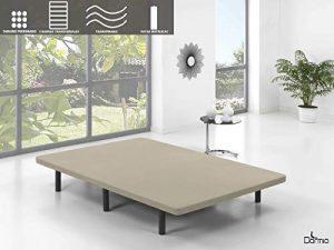Dormio Base Tapizada con 5 barras transversales + 4 patas de metal, con Tejido Strech ( 90x190) 1