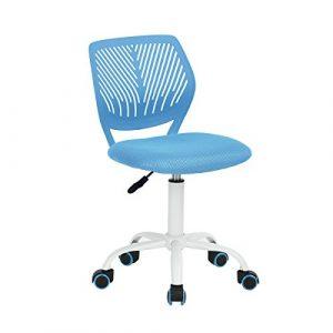 Silla de escritorio Fanilife, ajustable y giratoria sin brazos de diseño, para niños, silla para el ordenador, para los deberes, para estudiar, color negro 1