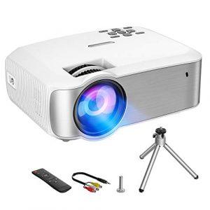 VicTsing Proyector,3200 Lúmenes Multimedia Vídeo Mini Proyector,1080P Full HD Proyector LED con Tecnología LCD,Proyector de Cine en Casa Compatible con HDMI,VGA,USB,AV,SD para Laptop,Android 1