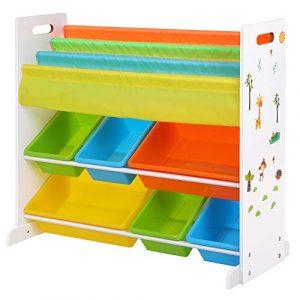 SONGMICS Estantería Infantil para Juguetes y Libros, Librería de 3 Niveles con 6 Cajones, 86 x 27 x 78 cm GKR03W 4