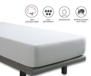 Tural - Protector de colchón Impermeable. Rizo 100% Algodón. Talla 180x200cm 6