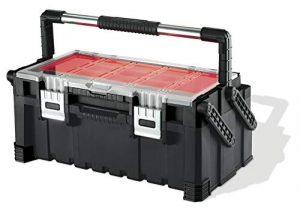 Keter 17187311 - Caja de herramientas (plástico), color negro y rojo 2