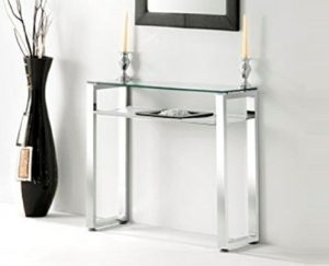 Adec 2454140031 - Mueble de recibidor benetto - color cromado-blanco 4