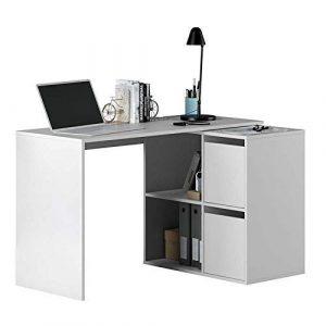 Habitdesign 008311A - Mesa escritorio, mueble de despacho, modelo Adapta, color Blanco Artik, medidas: 74 x 120 x 77 cm 5