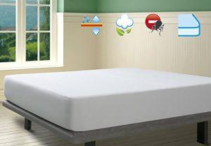 SAVEL, Protector de colchón Rizo 100% algodón, Impermeable y Transpirable, 105x190/200cm (para Camas de 105) 5
