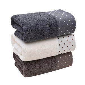 Toallas de baño de algodón, lavables a máquina, 3 piezas 6