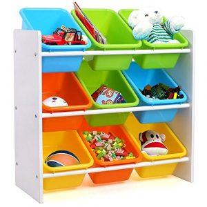 Homfa Estantería Infantil para Juguetes Libros Organizador Infantil de Juguetes Almacenamiento Juguetes con 9 Cajones 65 x 26.5 x 60cm 2