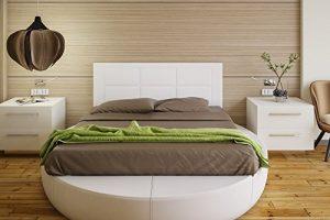 Hogar24 Es Cabecero tapizado, válido para Cama 135 y 150 cm, Blanco, 155x55x3 4