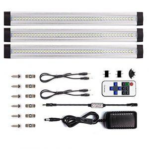 LEBRIGHT LED bajo Mueble Regulable,Modos de parpadear, Control Remoto LED, 30cm, 4W, 1100lm,Accesorios incluidos para Armario Vitrina Encimera (Blanco cálido 3000K) 2