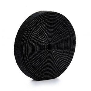 U-horizon Tiras de Velcro para Organizar Cables 2cmx500cm, Negro 2