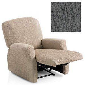 Jarrous Funda de Sillón Relax Completo Elástica Modelo Arucas, Color Gris-10, Medida 60-80cm Respaldo 2