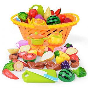 NextX Corte de Frutas y Alimentos Falsos -Juguete Educativo para la Primera Infancia - Accesorios de Cocina - Regalo de Navidad perfecto para Niños de 3 o más años (20 piezas) 1