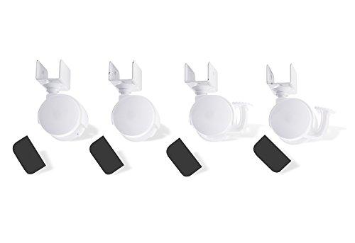 Pinolino 560 003 - Juego de ruedas para cuna con enganche en U, color blanco 1