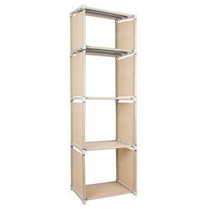 Azadx 4 Cube Bookcase, Unidades de Almacenamiento de estantes Ajustables para Bricolaje 1