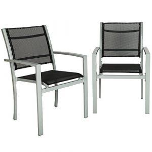 TecTake Juego de 2 Sillas de jardín sillón balcón terraza silla de exterior   varios modelos (gris   No. 402065) 3