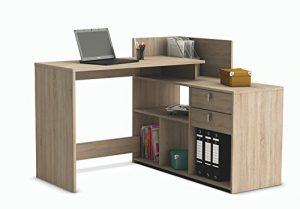 Escritorio mesa de estudio ordenador 121cm. Roble. Para despacho, ordenador, dormitorio juvenil 4