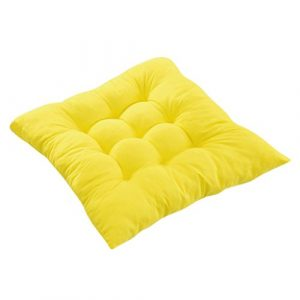 Cojines de Asiento Cojín Amortiguador de Sillas Comedor Al Aire Libre Jardín Muebles Decoración - Amarillo 4