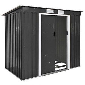 TecTake Cobertizo caseta de jardín metálica de Metal Invernadero almacén | + fundación Modelos (Tipo 4 | Gris | no. 402569) 2
