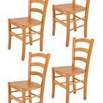 Tommychairs sillas de Design - Set 4 sillas Modelo Venice para Cocina, Comedor, Bar y Restaurante, con Estructura en Madera Color Miel y Asiento en Madera 11