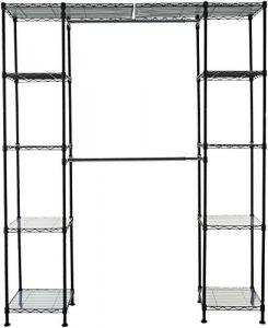 AmazonBasics - Sistema organizador de armario extensible, Negro 1