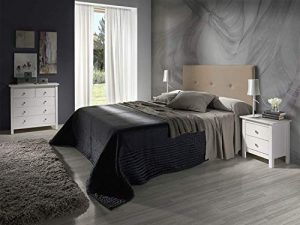 Cabecero tapizado Judith Taupe 160 X 55 X 3 cm, Incluye herrajes para Colgar 9