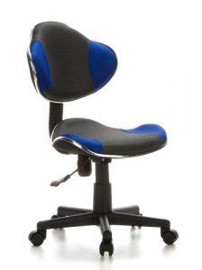 hjh OFFICE 633000 silla escritorio para niños KIDDY GTI-2 tejido negro / azul ergonómico silla juvenil 1
