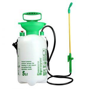 VOXON Pulverizador de Resión Boquilla Ajustable de 5 litros Capacidad para Ser Utilizado como Jardinería, Lavado de Coches, Limpieza de Ventanas, Riego de Flores, Fertilización y Mucho Más 1