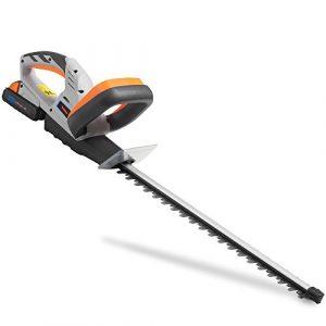 VonHaus Cortasetos sin Cable a Batería 20 V - Longitud de la Cuchilla 51cm, Espacio Entre Dientes 15mm - Batería y Cargador incluidos 1