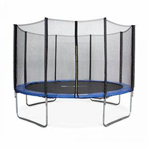 Alice's Garden - Cama elastica, Trampolin de 370 cm, aguanta hasta 150 kg (estructura reforzada) - SATURNE 1