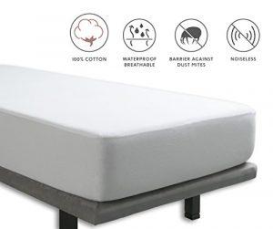 Tural - Protector de colchón y Sábana Bajera 2 en 1 Impermeable y Transpirable. Tejido 100% Algodón. Talla 80x200cm 1