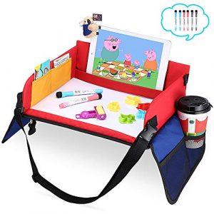 Mesa para niños en la Asiento de Coche, YOOFAN Bandeja de Viaje Snack, Viajan Niños Play Tray, Mesa para Niños, Bandeja para coche, Cochecito, Avión 1
