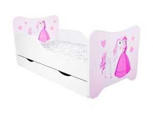 Cama infantil para bebé, 160x 80 cm+ colchón + cajón - Múltiples diseños 10